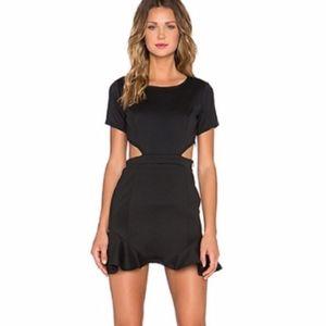 Lovers + Friends Black Eternal Short Sleeve Dress